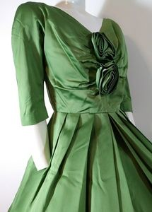 50s vintage GIGI young satin hostess dress
